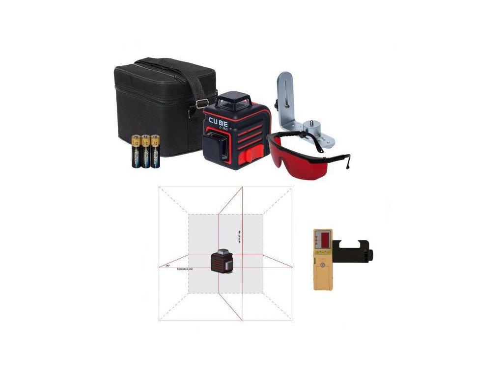 Krížový laser ADA Cube 2-360 Home + prijímač