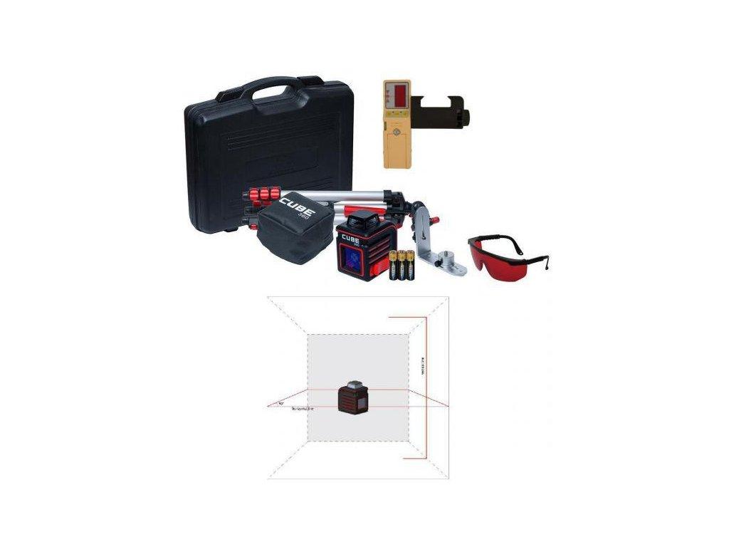 Krížový laser ADA Cube 360 Ultimate + prijímač