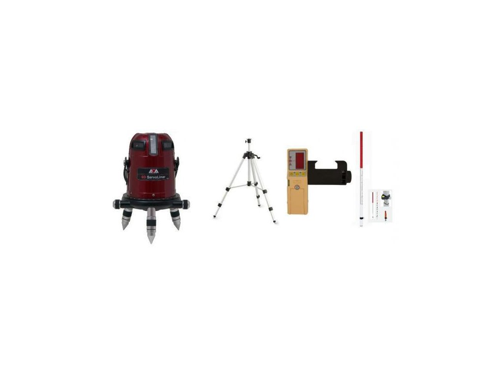 rížový laser ADA 6D Servoliner + prijímač + lata + statív
