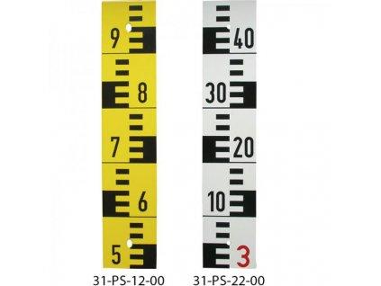 Odčítacia lata na meranie hladiny - smaltovaná