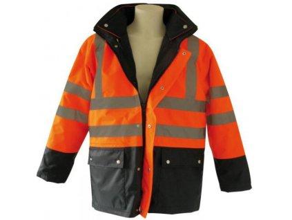 Signálna bunda 3v1 oranžová - M