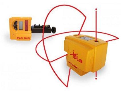 Čiarový laser PLS 4 s olovnicou + Snímač