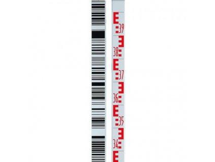 Teleskopická nivelačná lata s čiarovým kódom 4m