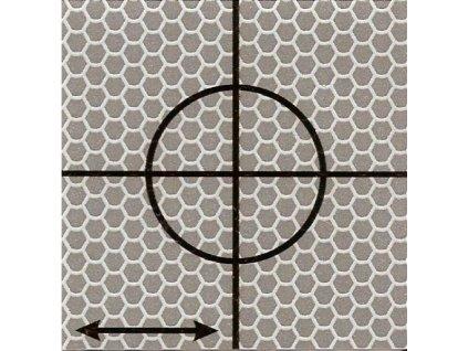 Reflexný terčík - Cieľová značka 6 x 6 cm