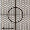 Reflexný terčík - Cieľová značka 2,5 x 2,5 cm