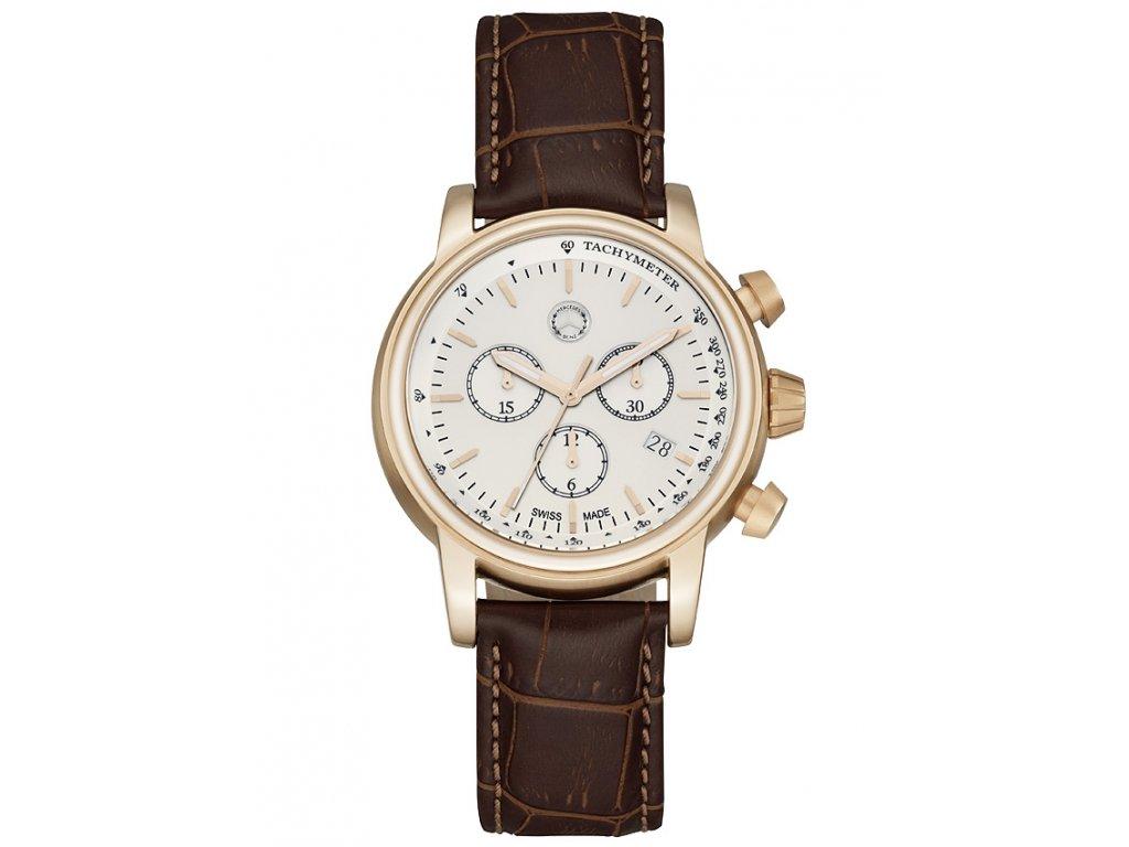 Náramkové pánské hodinky Classic Retro Gold