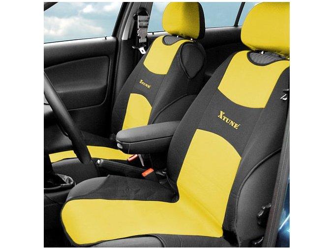 Potah sedadla TRIKO přední 2ks žlutý
