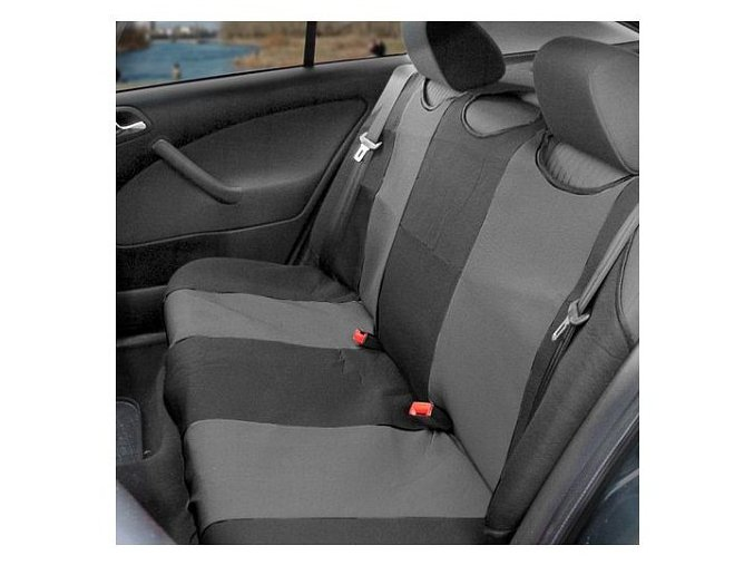Potah sedadla TRIKO zadní 1ks tmavě šedý