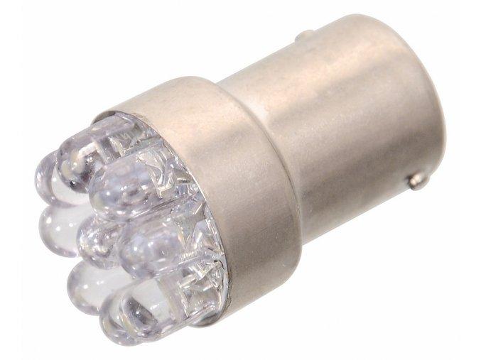 Žárovka 9LED 12V  Ba15s bílá úzká