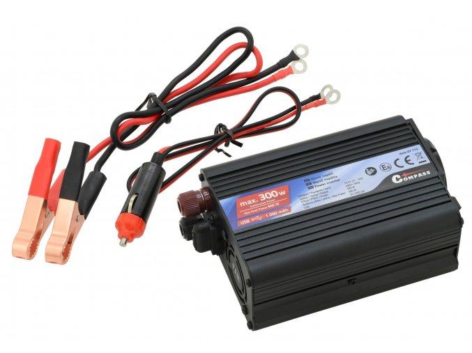 Trafo 12/230V 300W + USB