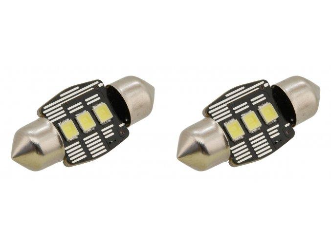 Žárovka 3 LED SMD 12V  suf.11X32 SV8.5 NEW-CAN-BUS bílá 2ks