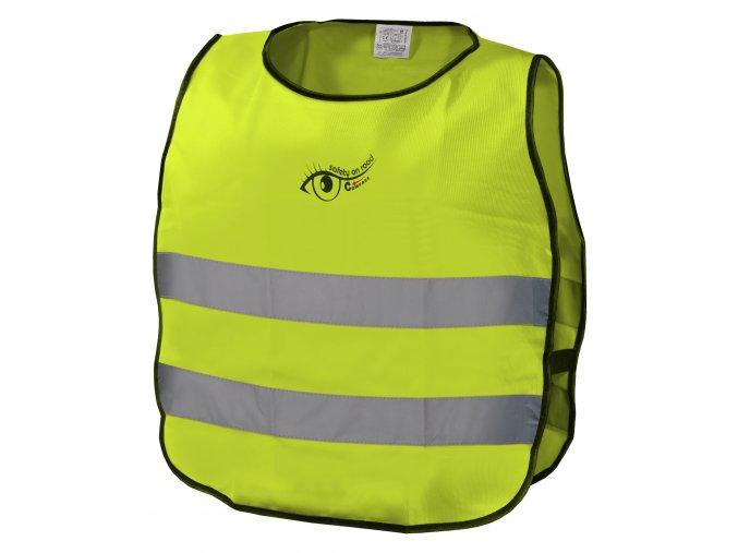 Vesta výstražná žlutá dětská S.O.R. EN 1150:1999