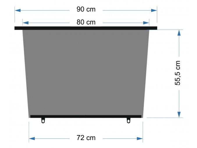 Roletka 90cm 1ks lichoběžník
