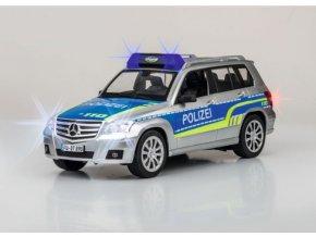 CARSON Mercedes Benz GLK POLIZEI 1:14 LED MAJÁKY SIRÉNA RTR