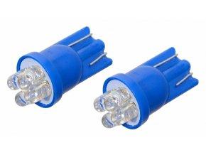 Žárovka 4LED 12V  T10  modrá  2ks