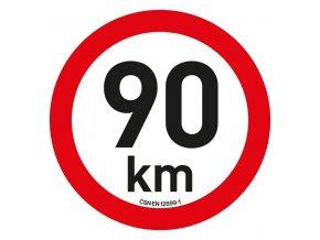 Samolepka omezení rychlosti  90km/h reflexní (200 mm)