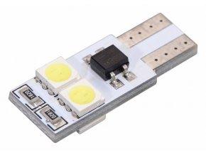 Žárovka 4 SMD LED 12V T10 s rezistorem CAN-BUS ready bílá