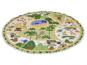 Oboustranná hrací deka 2 v 1, Safari