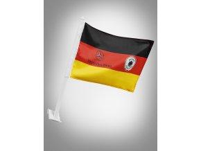 Držák s Německou vlajkou a znaky Mercedes-Benz a DFB
