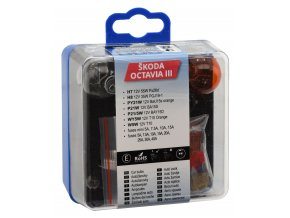 Žárovky servisní box ŠKODA OCTAVIA III H7+H8