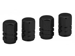Ozdobné kryty ventilků černé 4ks
