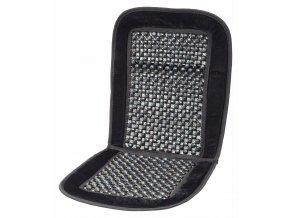 Potah sedadla kuličkový s lemem černý 93x44cm