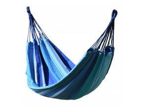 Houpací síť TEXTIL 200x100cm modro-bílá