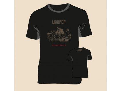 T Shirt Lidopop transfúzijá black