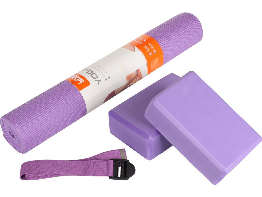 Yoga set 2x kostka, podložka, popruh