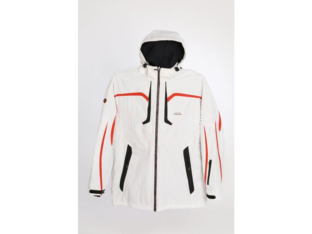 Mercox Davos white/red/black pánská zimní bunda  + DÁREK ZIMNÍ ČEPICE