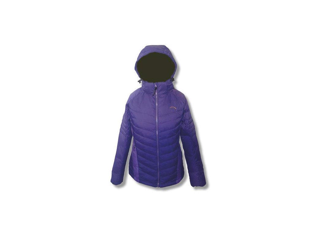 Dámská péřová bunda MERCOX MARMOLADA purple  + DÁREK ZIMNÍ ČEPICE