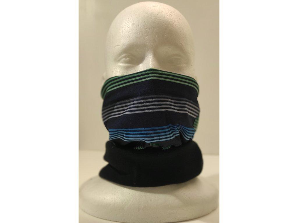 Multifunkční šátek Mercox warm colour stripe