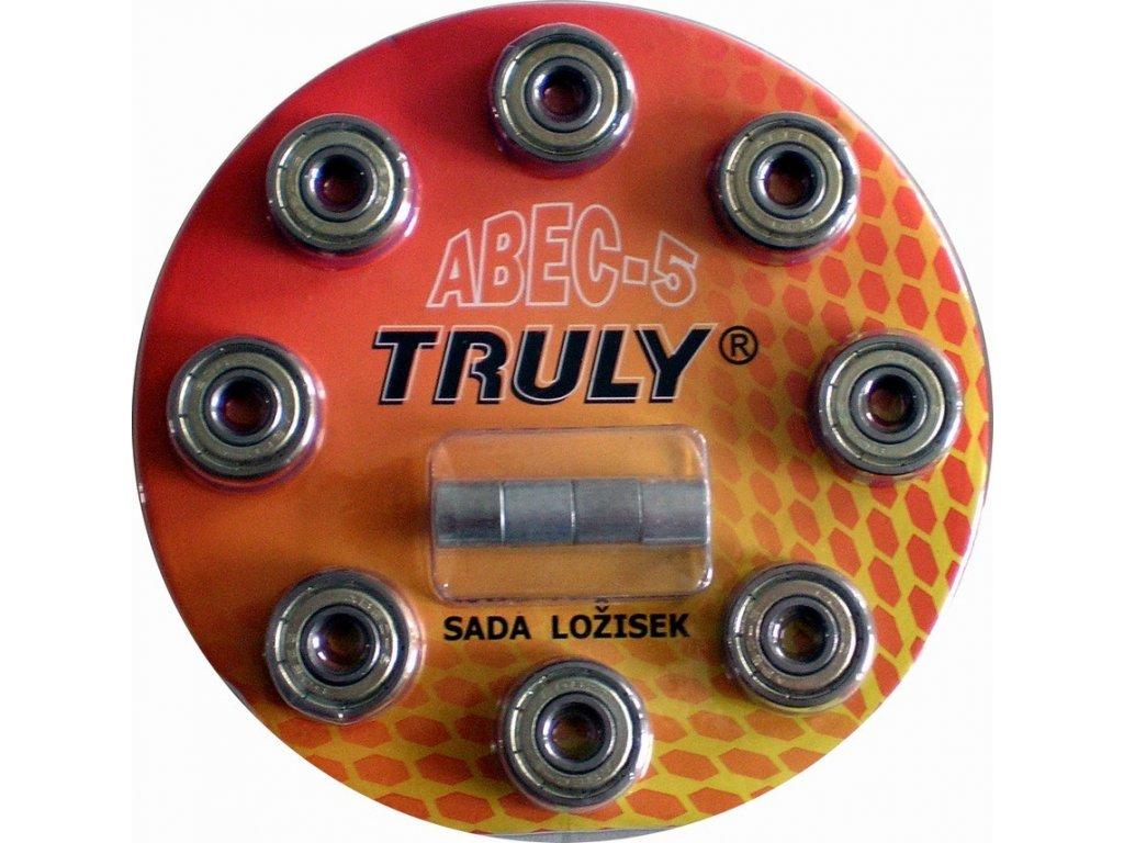 Sada ložisek TRULY ABEC 5 - Carbon/8ks