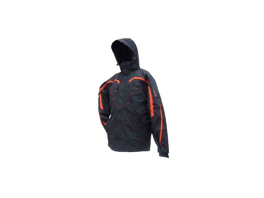 Mercox Davos black/red/black junior zimní bunda  + DÁREK ZIMNÍ ČEPICE