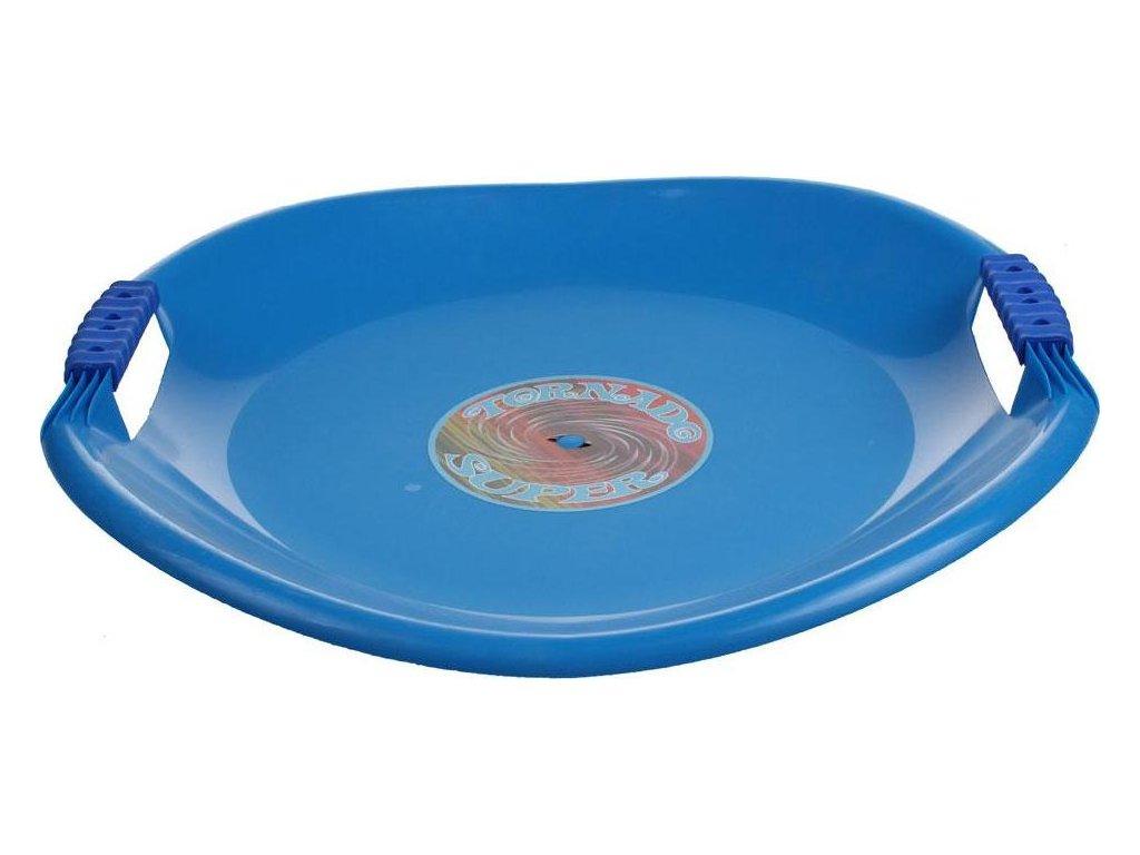 Sáňkovací talíř TORNÁDO SUPER PLASTKON 56 cm Modrá