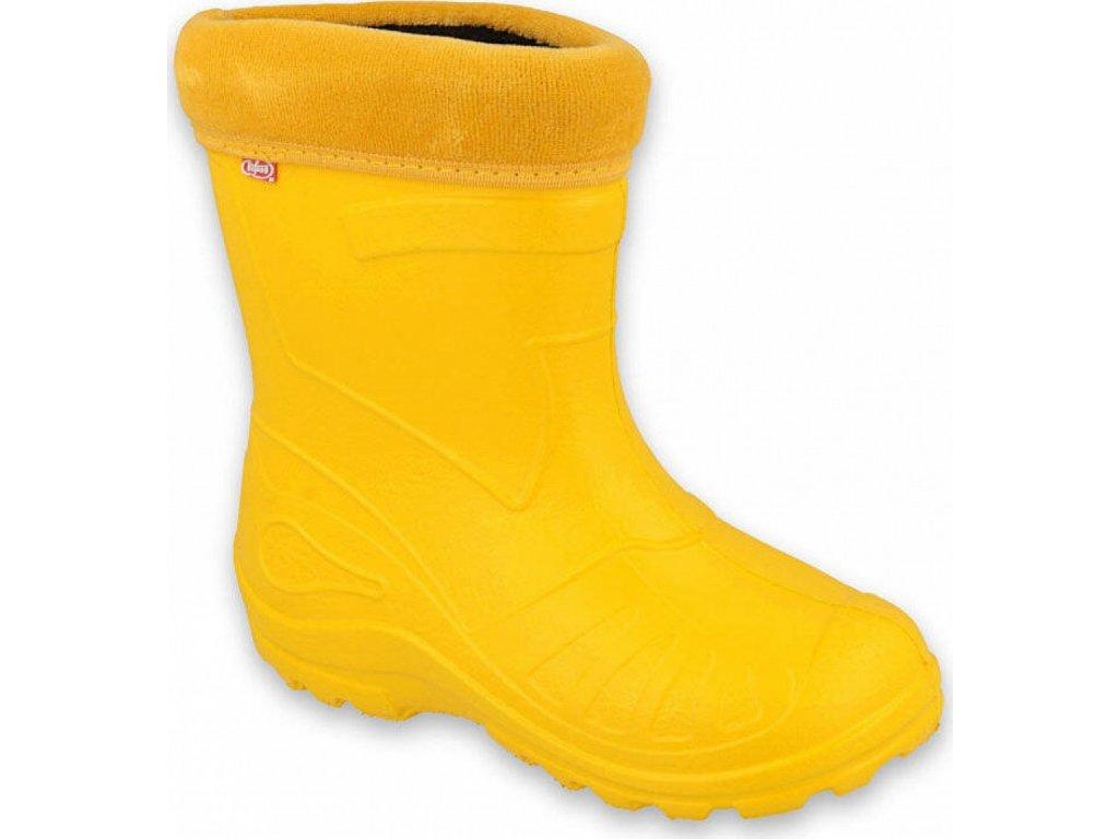 162P107 22 gumáčky Befado zateplené vložkou žluté