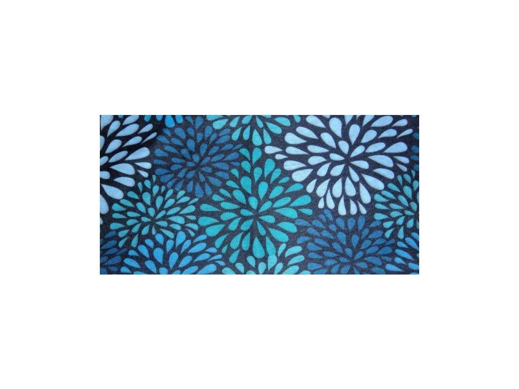 Multifunkční šátek Mercox  flowers blue
