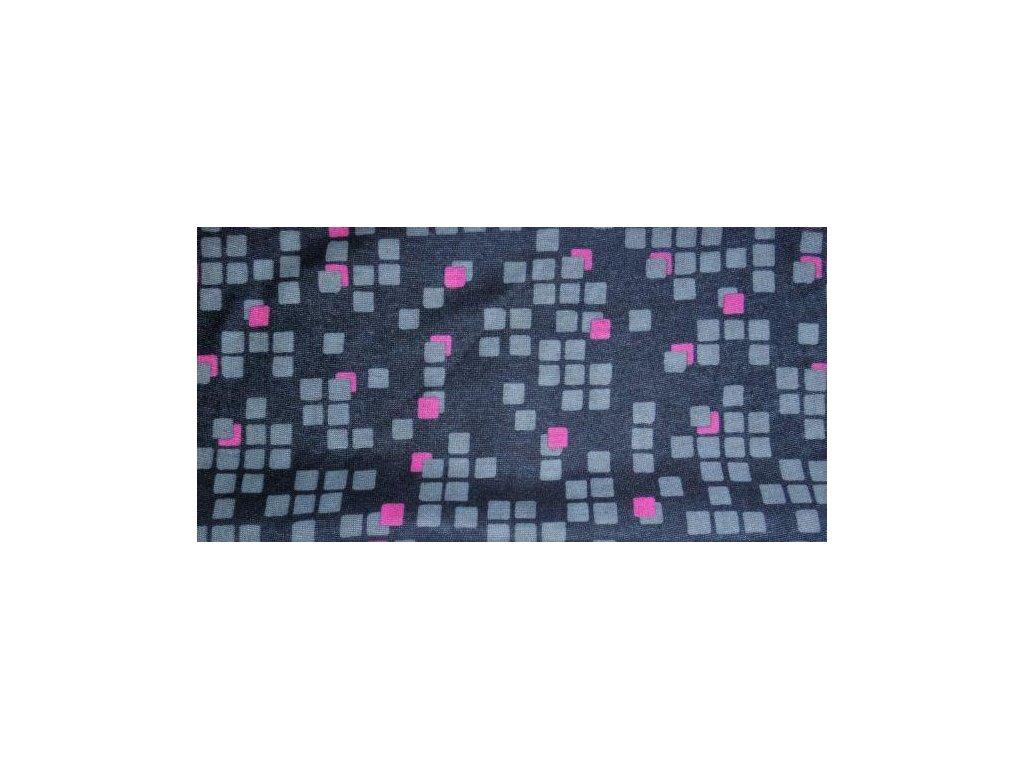 Multifunkční šátek Mercox square grey,pink