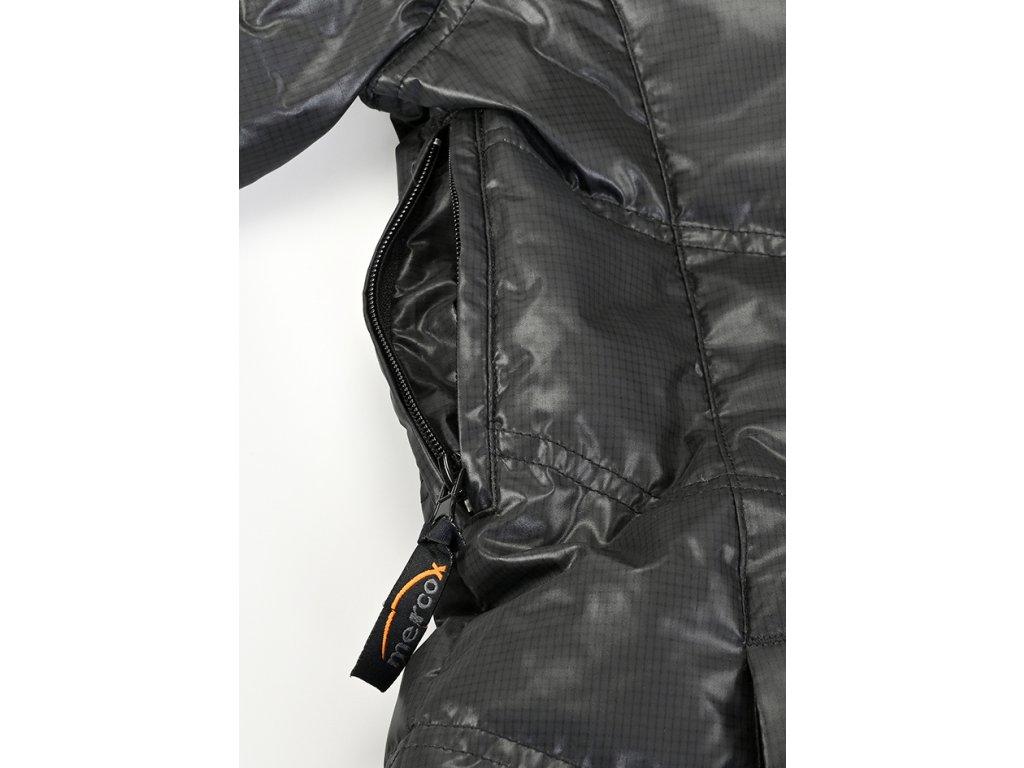 Mercox Hintertux black péřová pánská zimní bunda