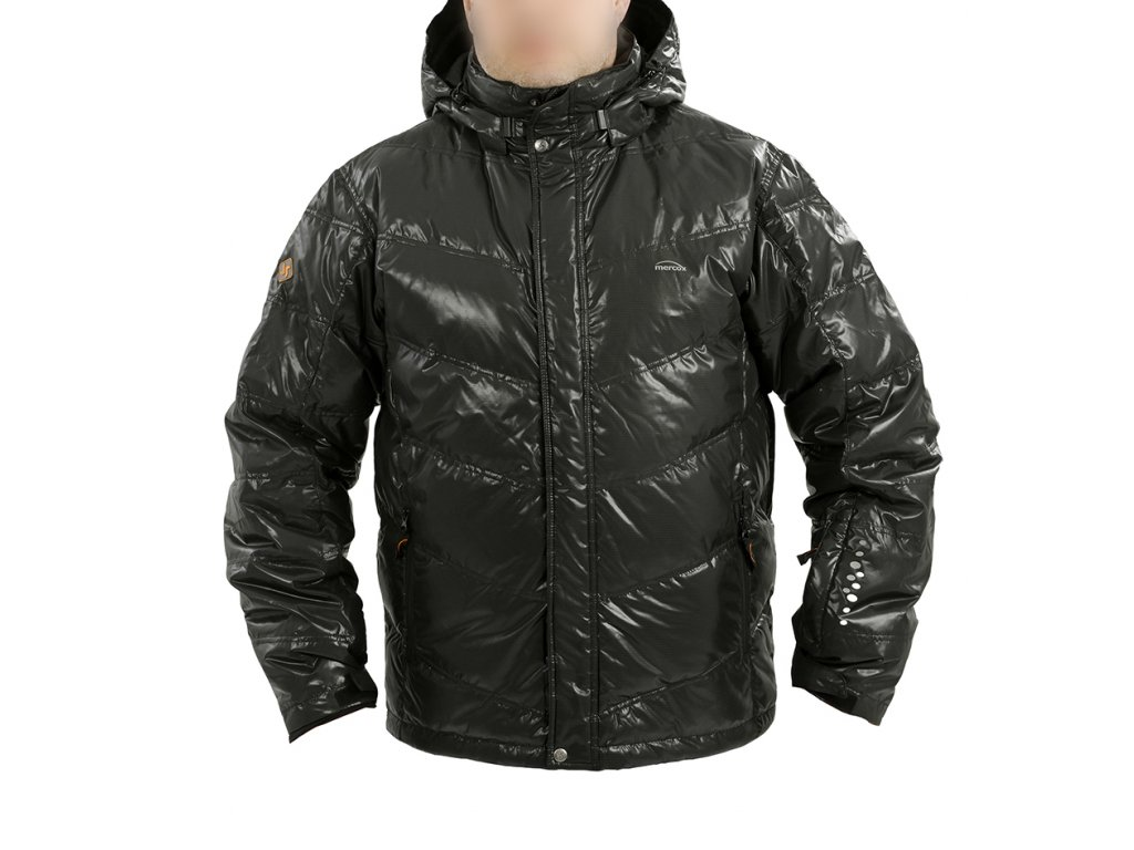 Mercox Hintertux black péřová pánská zimní bunda  + DÁREK ZIMNÍ ČEPICE