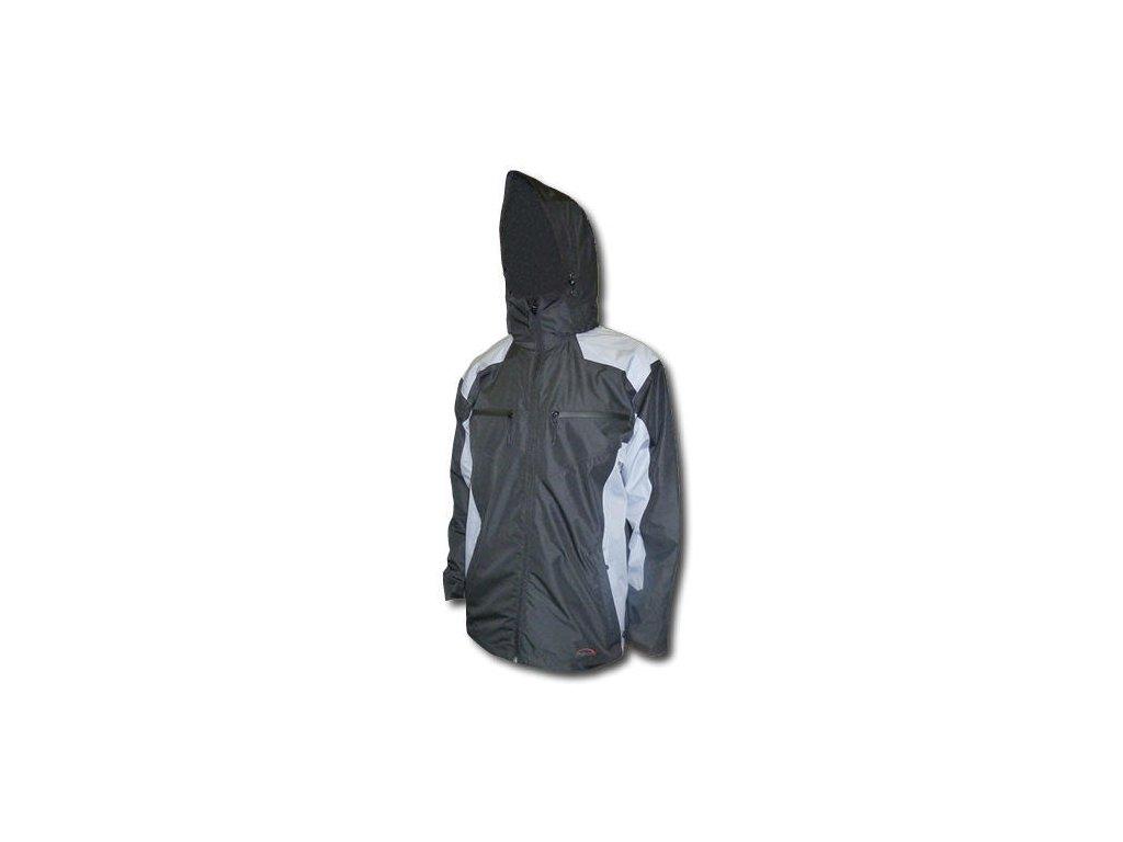 Mercox bunda dětská Stanley black/grey dětská bunda