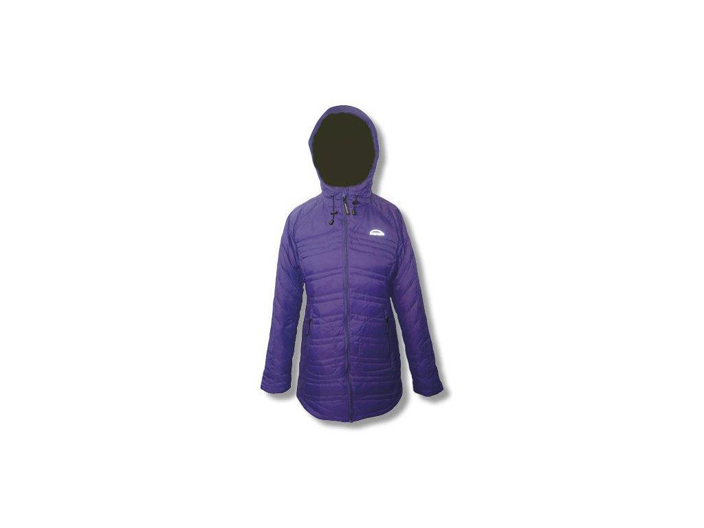 Dámský péřový kabát MERCOX PRIETA purple  + DÁREK ZIMNÍ ČEPICE