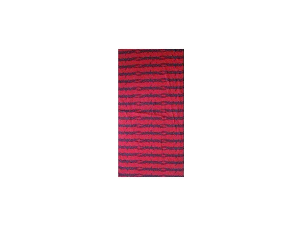 Multifunkční šátek Mercox orient print red