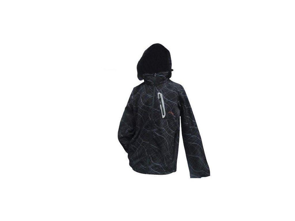 Mercox Chamonix black/print softshellová pánská bunda