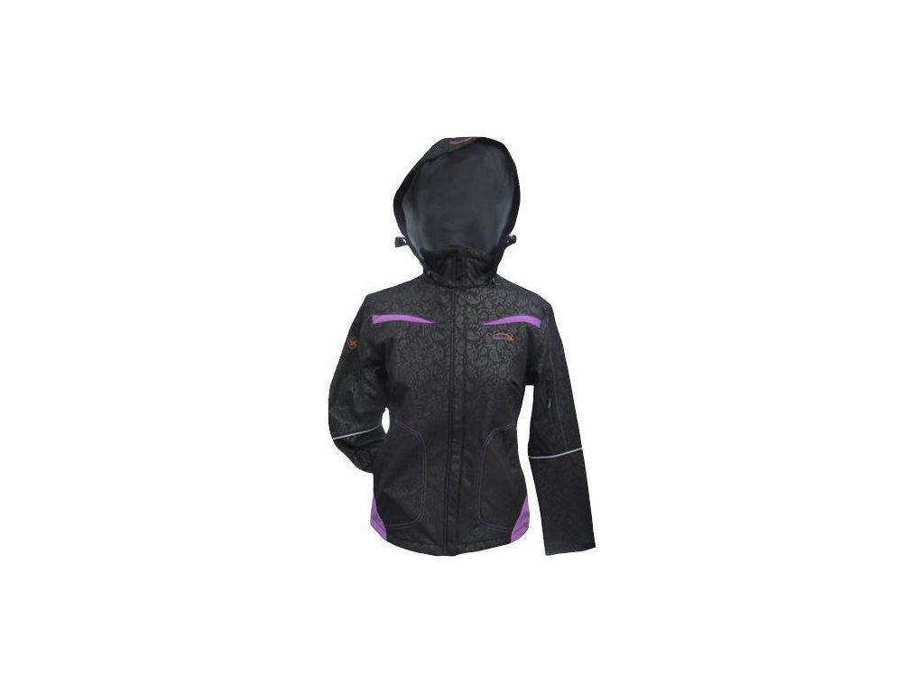 Mercox Isola black/print softshellová dámská bunda