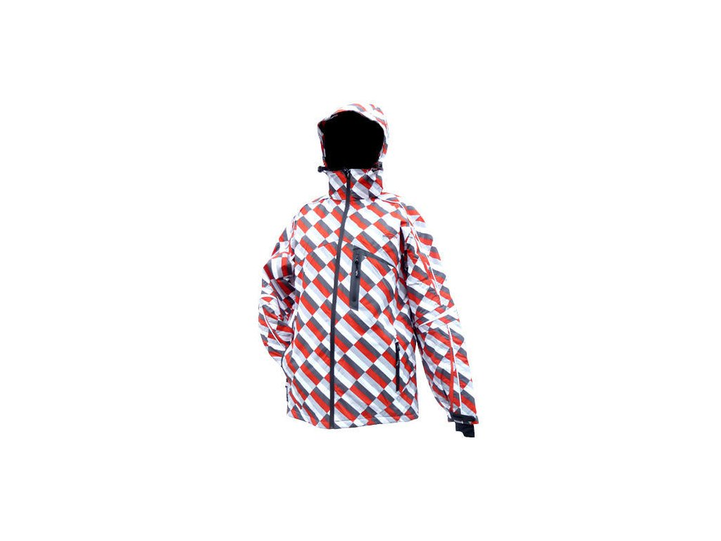 Mercox Nasfeld red print pánská zimní bunda