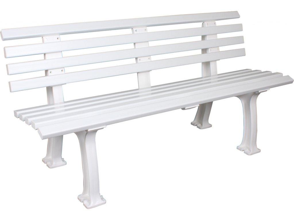 Freiburg tenisová lavička  bílá délka 150 cm