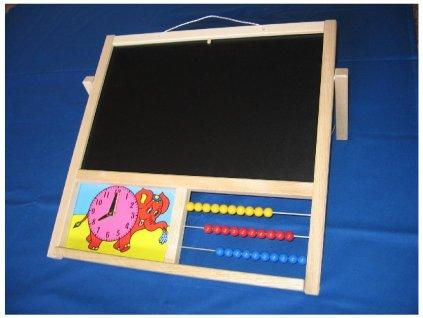 Dětská tabule na kreslení stolní  + DÁREK KŘÍDY K TABULI