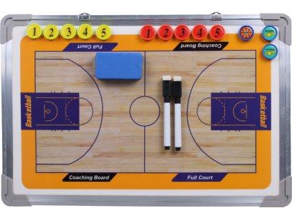 Basketbal 43 magnetická trenérská tabule, závěsná