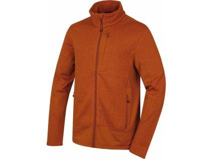 Pánský fleecový svetr   Alan M hněhooranžová